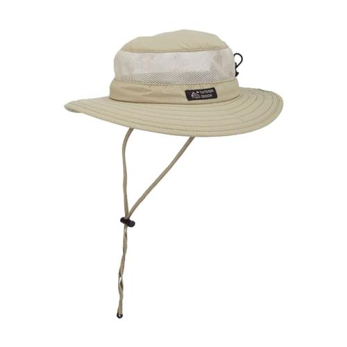 Dorfman Pacific Men's Supplex Boonie Mesh Sides Hat KHAKI
