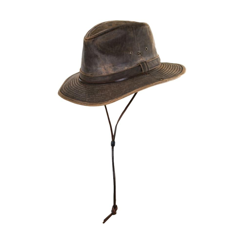 Dorfman Pacific Men's Weathered Outback Hat BROWN