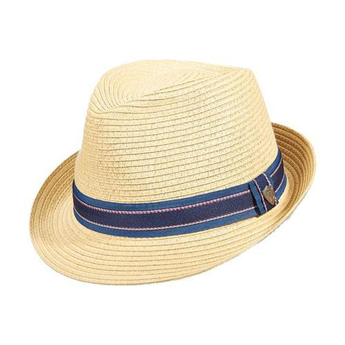 Dorfman Pacific Men's Fedora Paper Braid Hat NATURAL