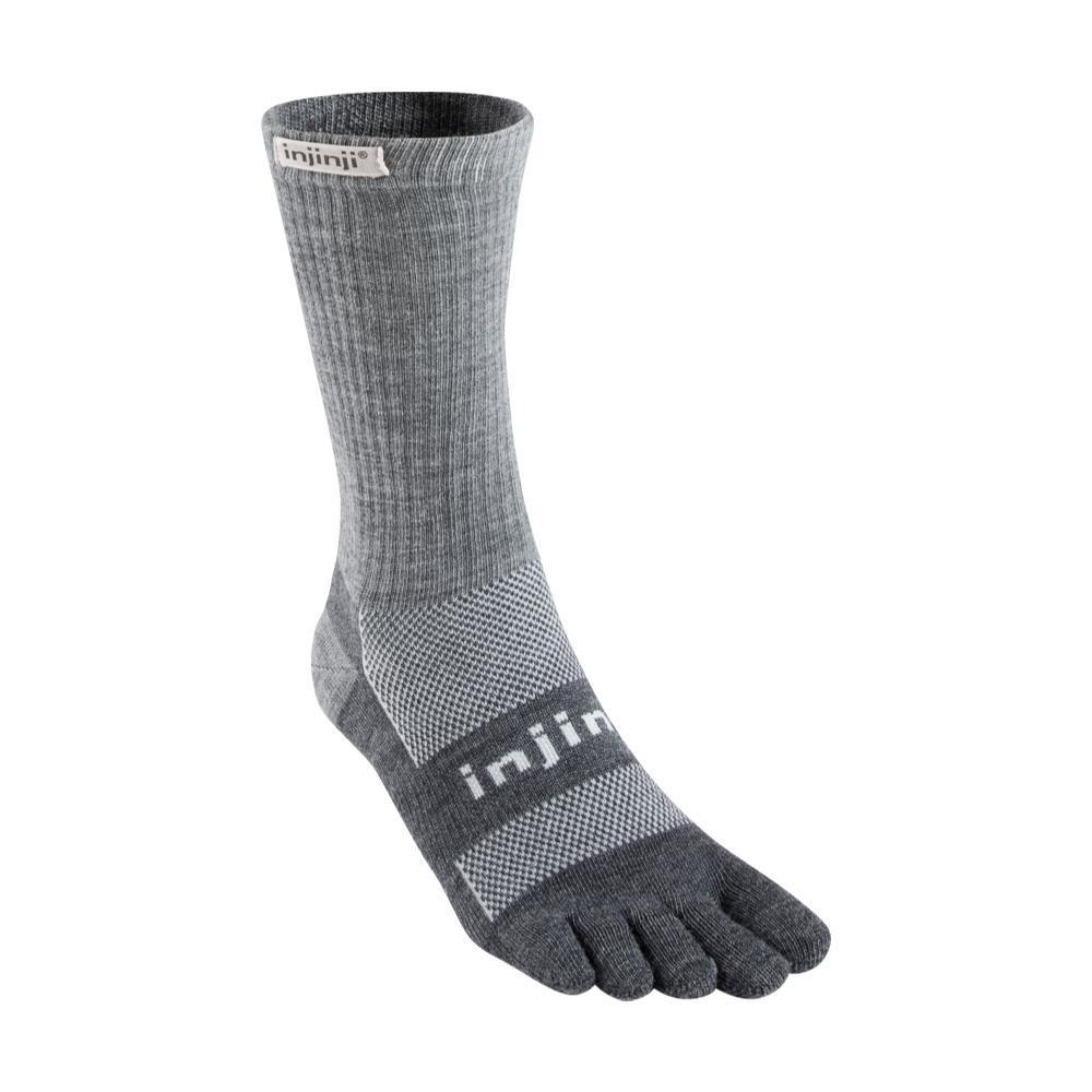 Injinji Unisex Outdoor Original Weight Crew NuWool Socks CHARCOAL