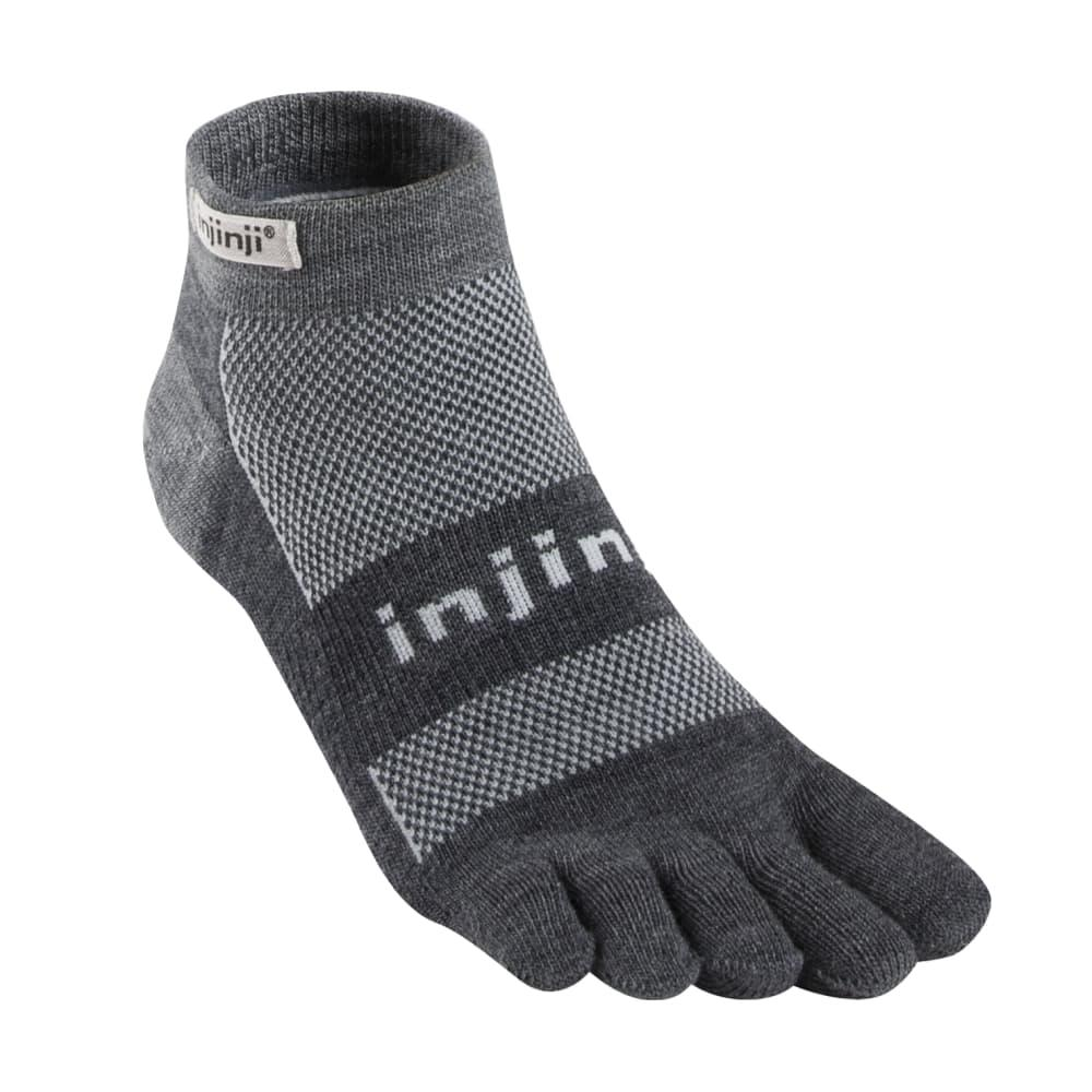 Injinji Unisex Outdoor Original Weight Micro NuWool Socks CHARCOAL