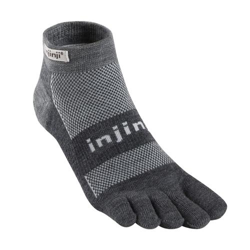 Injinji Unisex Outdoor Original Weight Micro NuWool Socks CHARCOAL