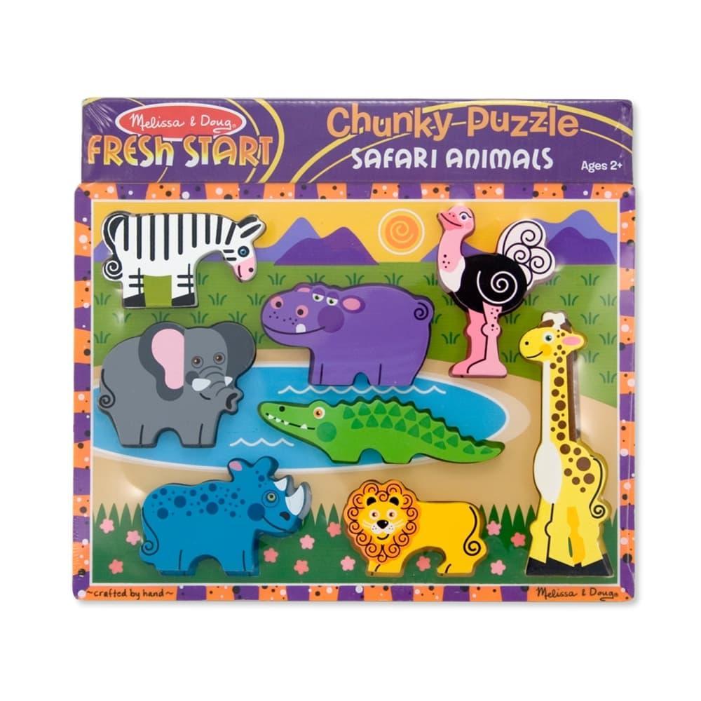 Melissa & Doug Safari Chunky Puzzle - 8 Pieces