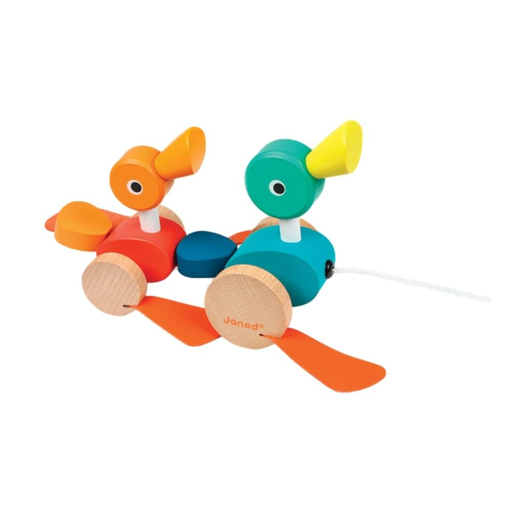 Janod Duck Family Pull- Along Toy