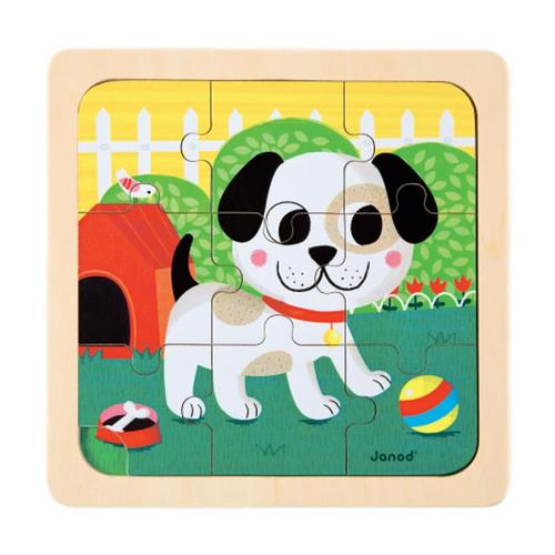 Janod Titus Dog Wooden Puzzle
