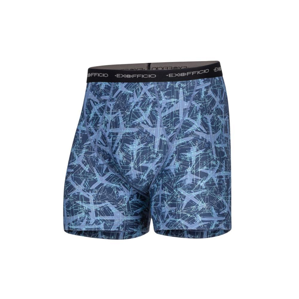 ExOfficio Men's Give-N-Go Printed Boxer Briefs NVYPLNS_7318