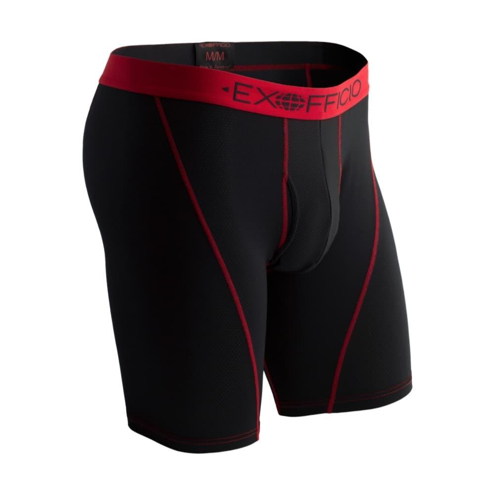 ExOfficio Men's Give-N-Go Sport Mesh 9in Boxer Briefs BLACK_9999