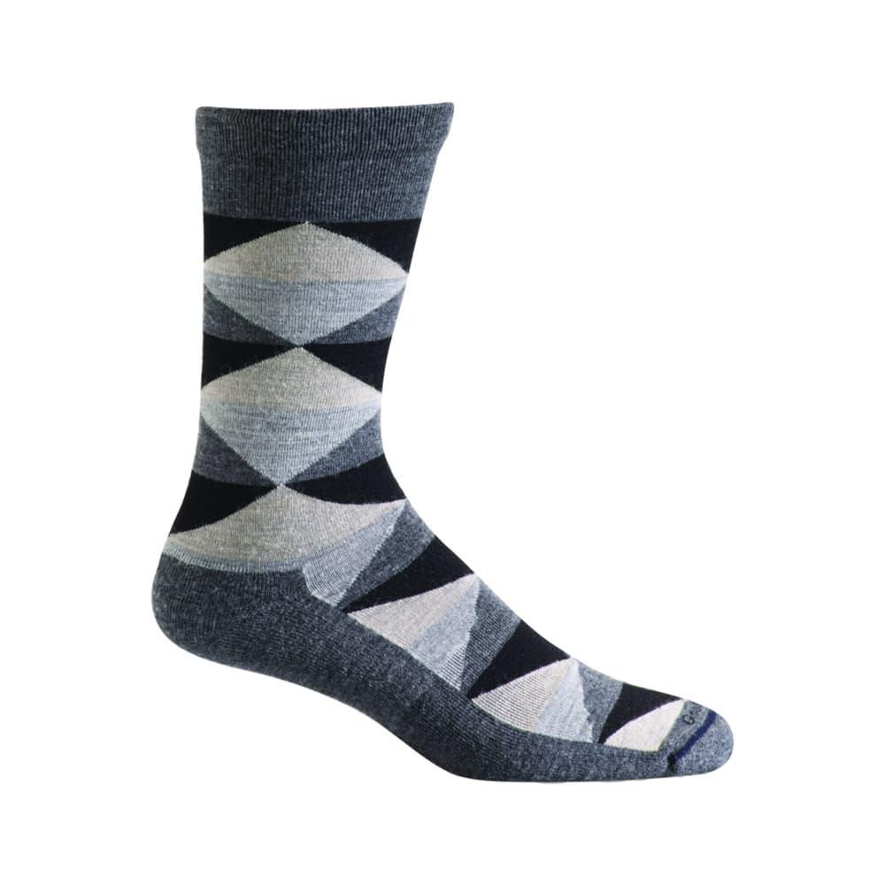 Sockwell Men's Fractals Crew Socks CHARCOAL_850