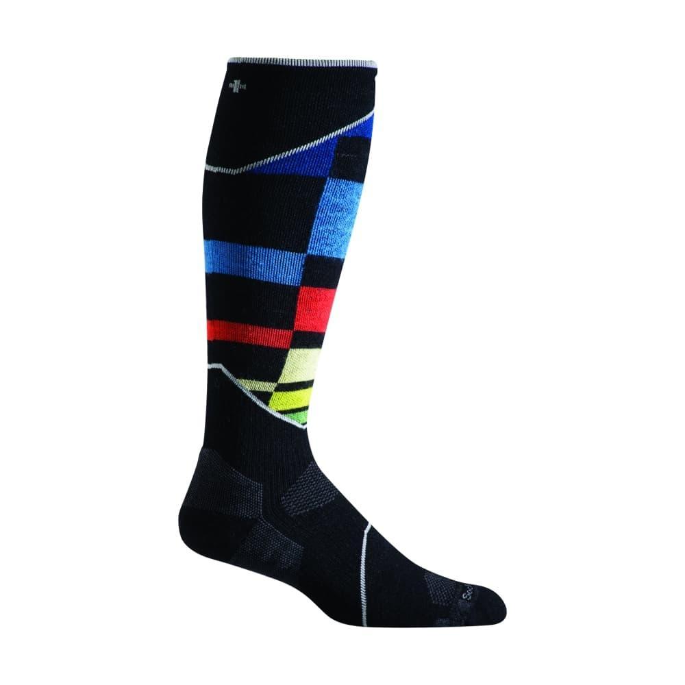 Sockwell Men's Ski Medium Compression Graduated Compression Socks BLKMULTI_901