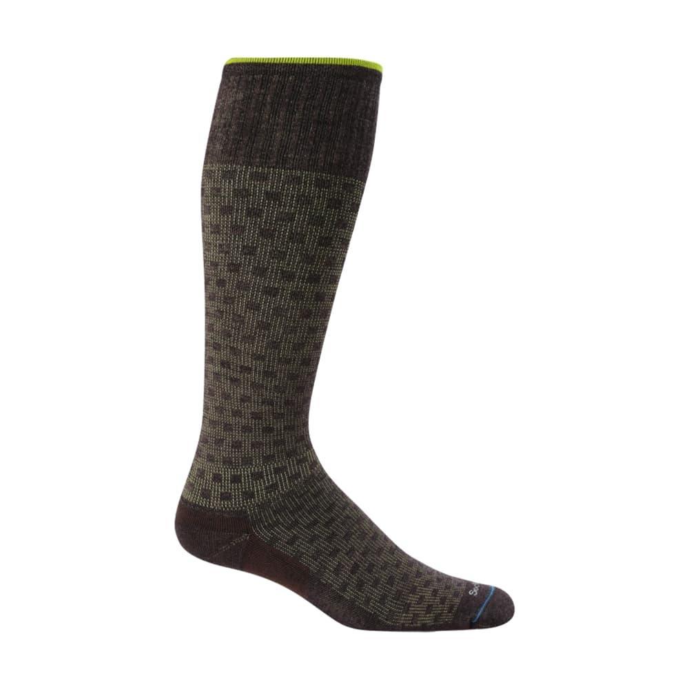 Sockwell Men's Shadow Box Moderate Graduated Compression Socks ESPRESSO