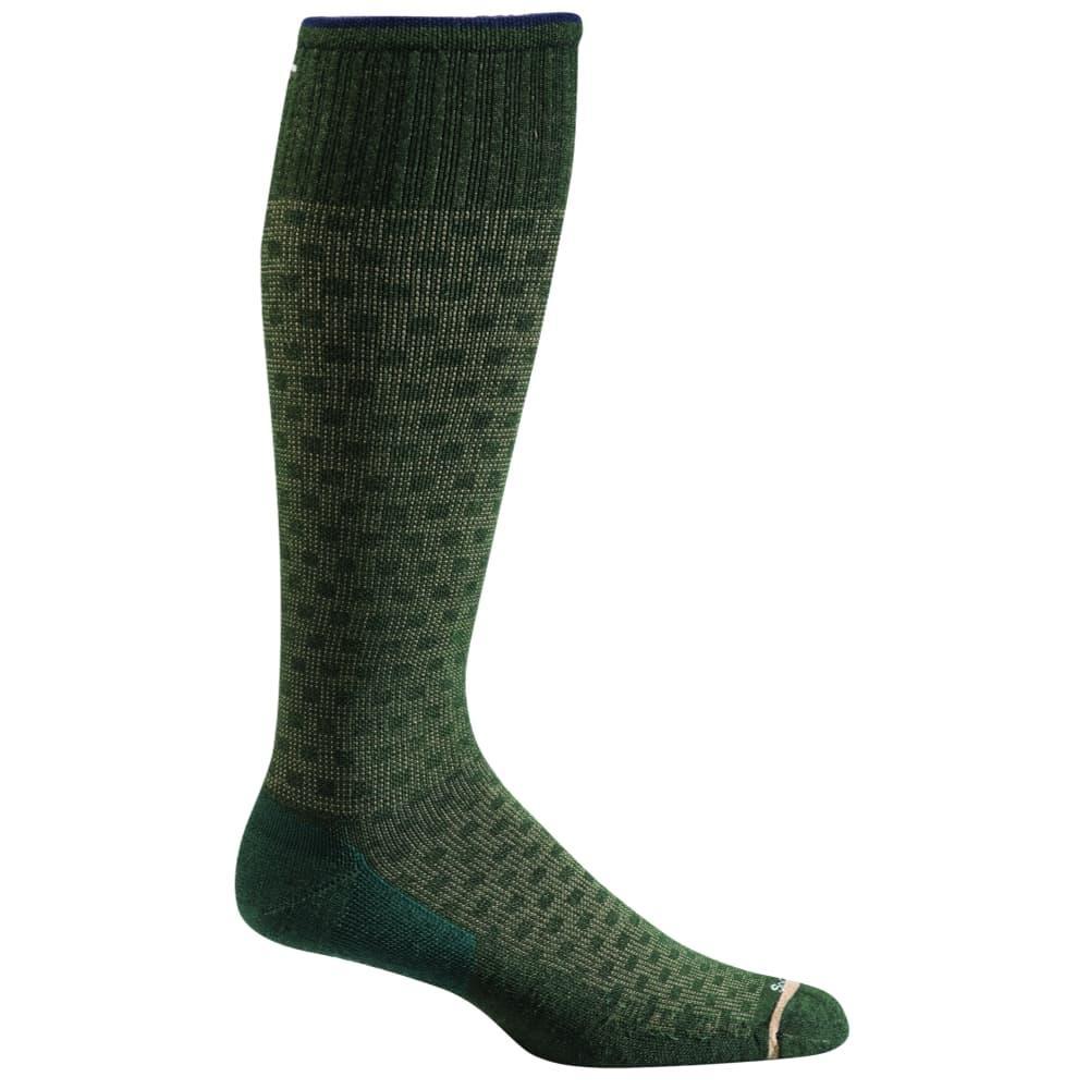 Sockwell Men's Shadow Box Moderate Graduated Compression Socks PINE_470