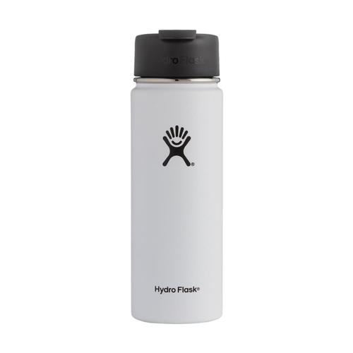 Hydro Flask 20oz Wide Mouth Bottle - Flip Lid WHITE