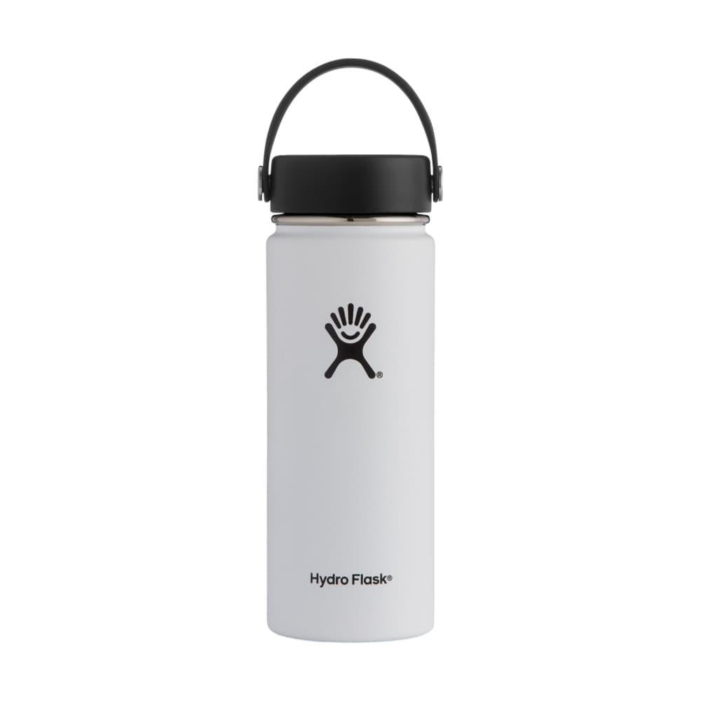Hydro Flask Wide Mouth 18oz - Flex Cap WHITE