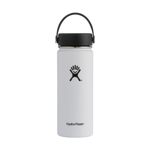 Hydro Flask Wide Mouth 18oz - Flex Cap WHITE