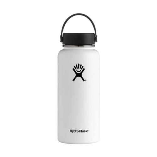 Hydro Flask 32oz Wide Mouth Bottle - Flex Cap WHITE