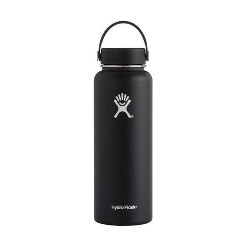 Hydro Flask 40oz Wide Mouth Bottle - Flex Cap BLACK