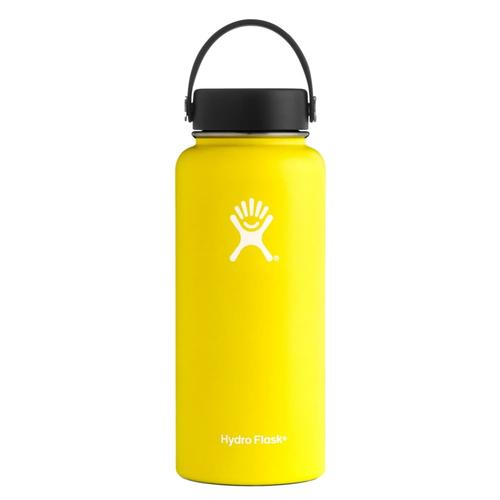 Hydro Flask 32oz Wide Mouth Bottle - Flex Cap LEMON