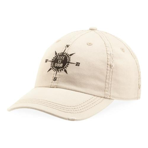 W/ COMPASS SUNWASHED CHILL CAP BONE