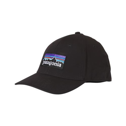 Patagonia P-6 Logo Stretch Fit Hat BLK