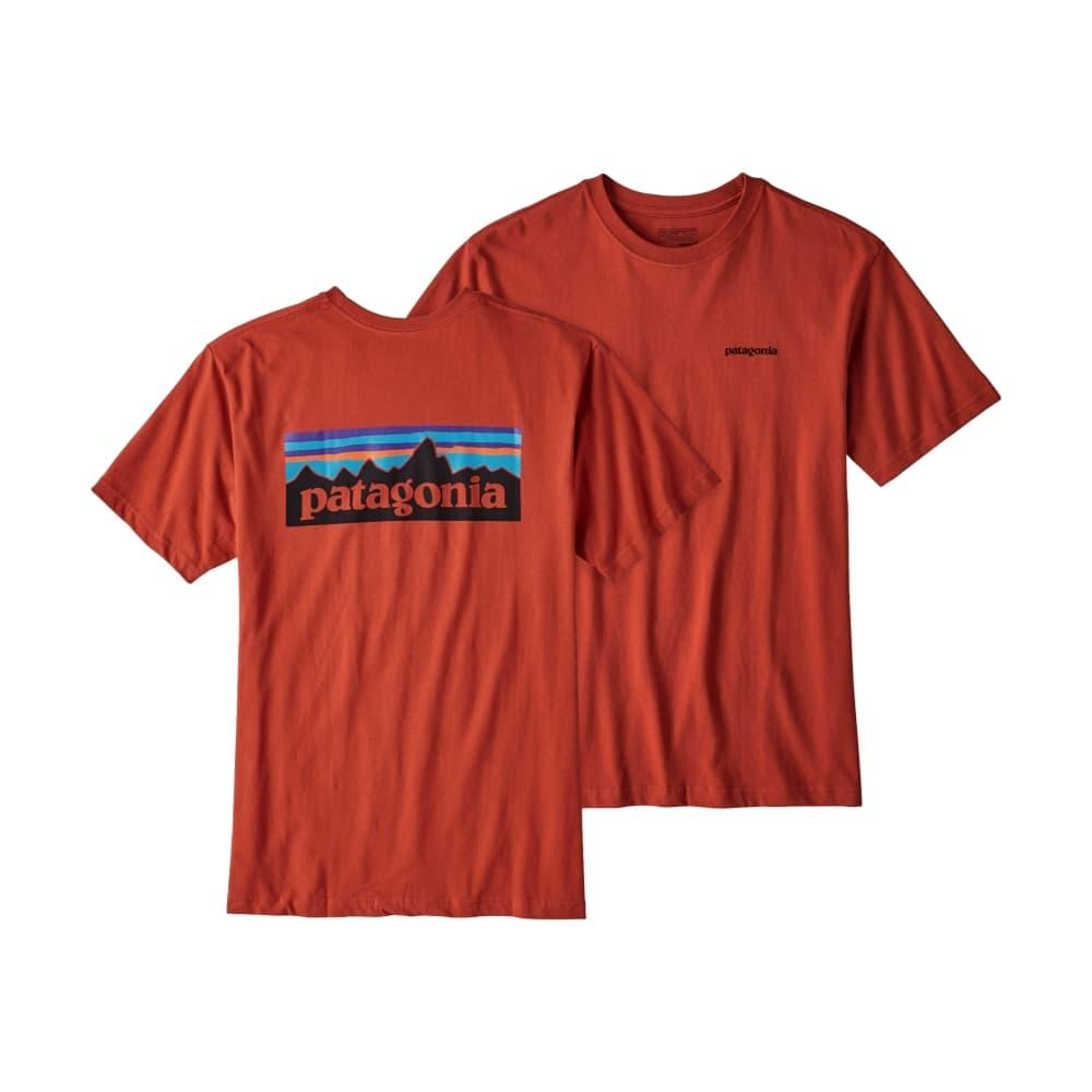 Patagonia Men's P-6 Logo Cotton T-Shirt ROOTRED_RTSR