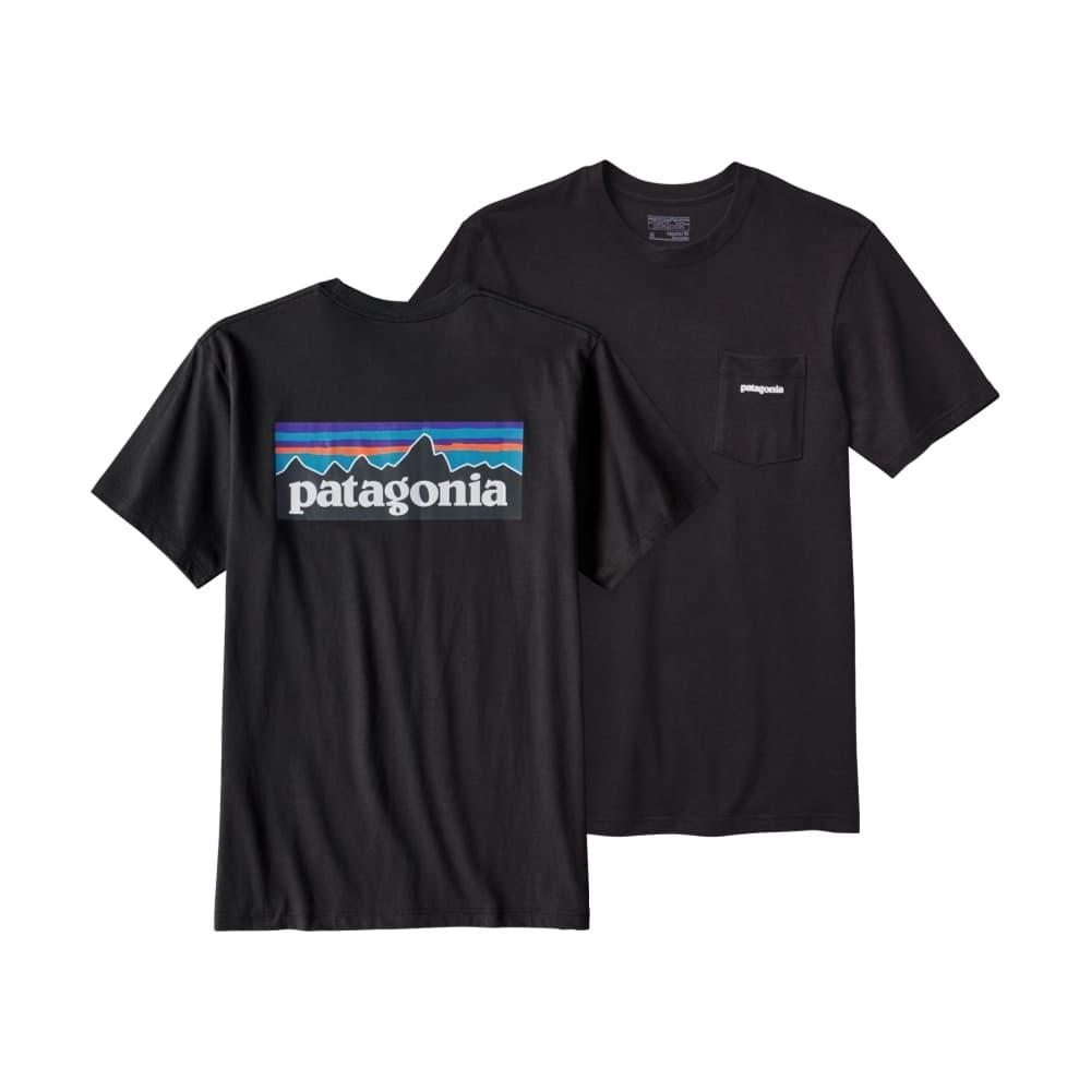 Patagonia Men's P-6 Logo Cotton Pocket T-Shirt BLACK_BLK