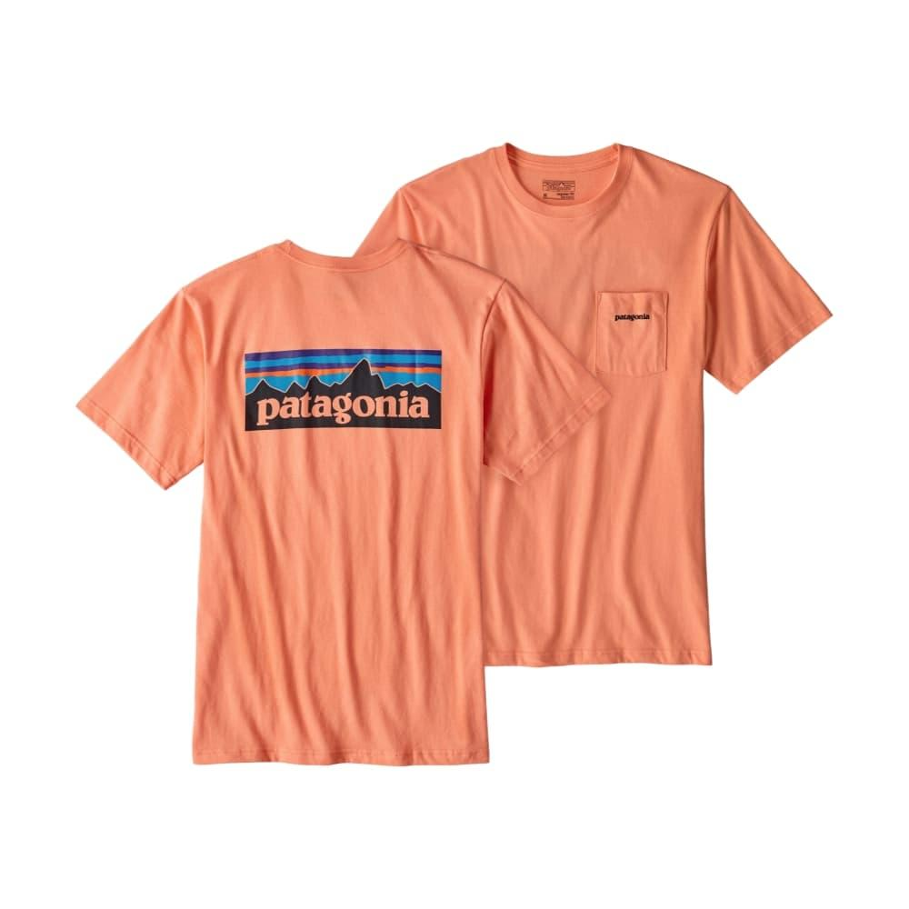 Patagonia Men's P-6 Logo Cotton Pocket T-Shirt PEACH_PCHS