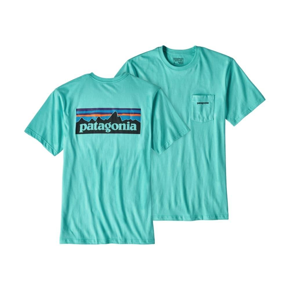 Patagonia Men's P-6 Logo Cotton Pocket T-Shirt SBLUE_STRB