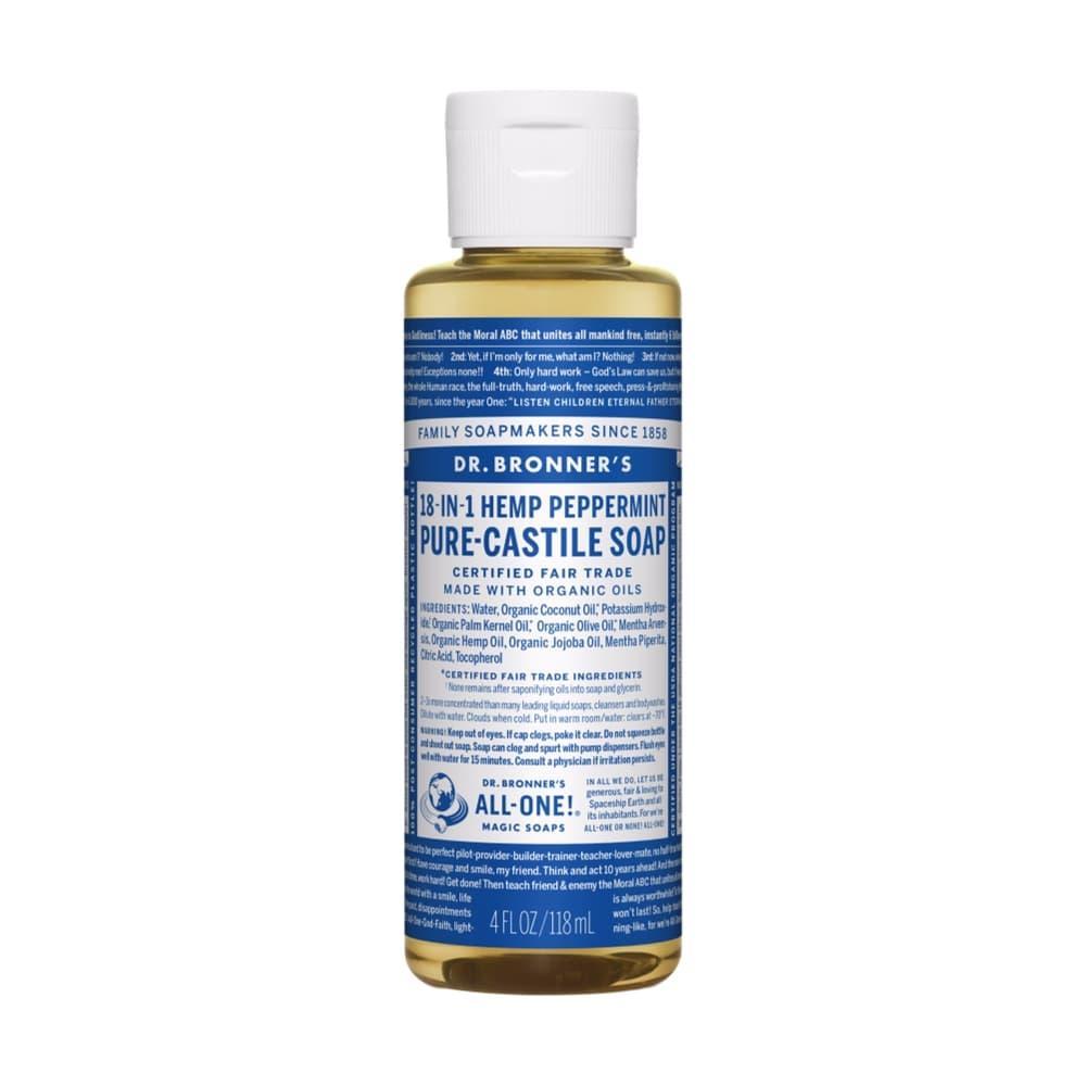 Dr.Bronner's Pure- Castile Liquid Soap Peppermint 4oz