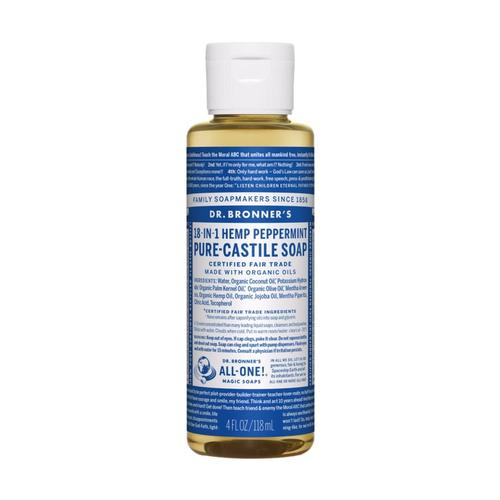Dr. Bronner's Pure-Castile Liquid Soap Peppermint 4oz