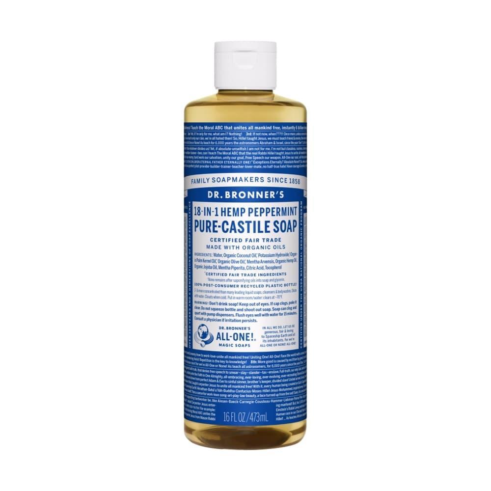 Dr.Bronner's Pure- Castile Liquid Soap Peppermint 16oz