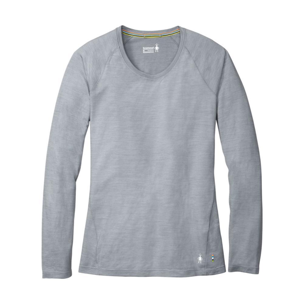 Smartwool Women's Merino 150 Base Layer Micro Stripe Long Sleeve Shirt PEBBGRY_948