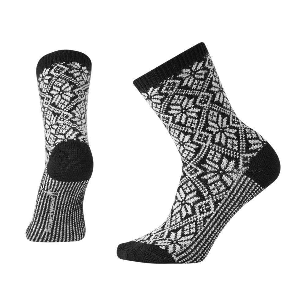 Smartwool Women's Traditional Snowflake Crew Socks BLACK_001