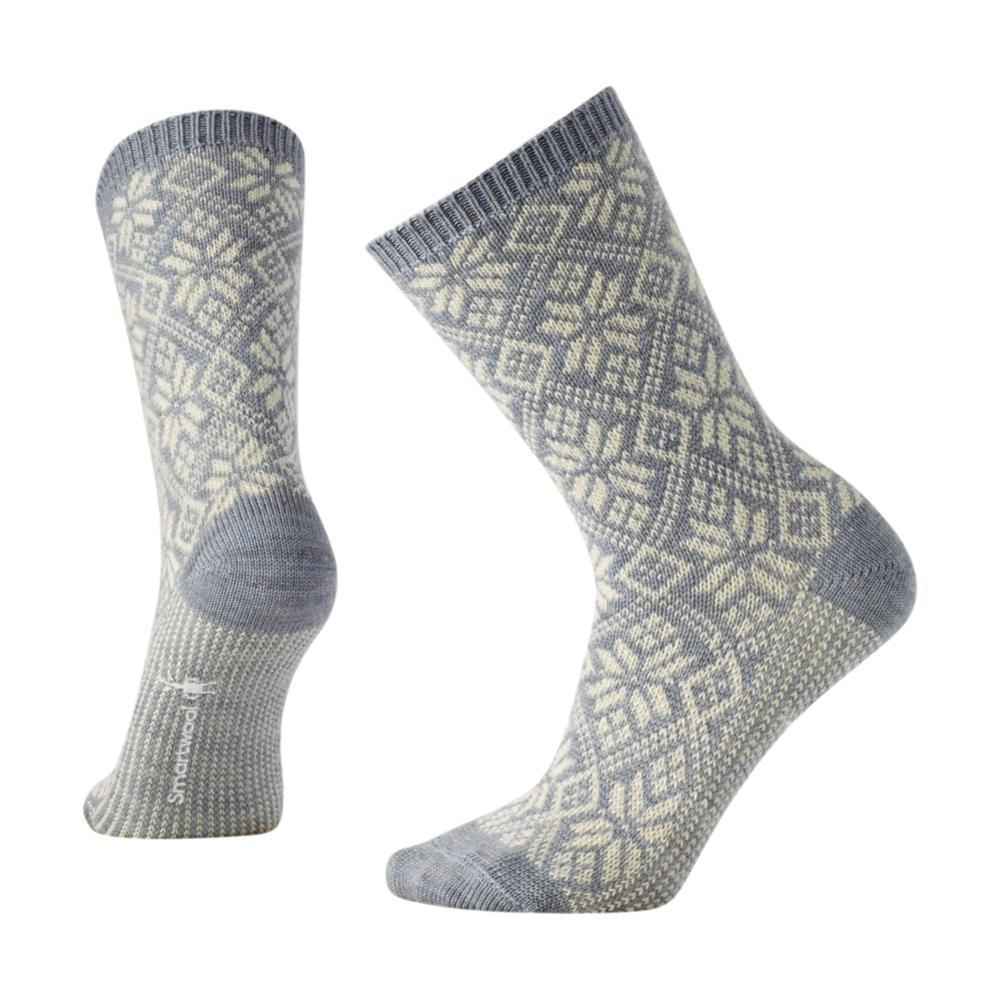 Smartwool Women's Traditional Snowflake Crew Socks BLUEICEH_557