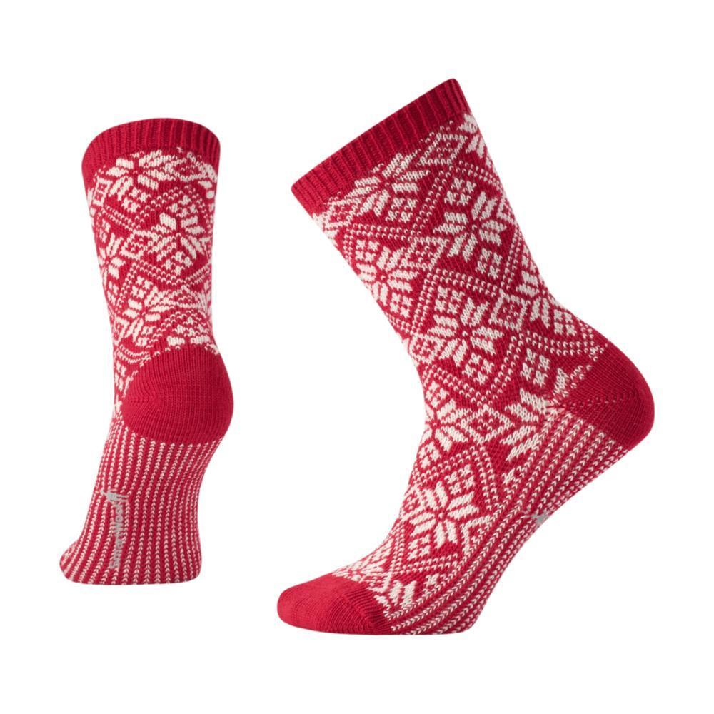 Smartwool Women's Traditional Snowflake Crew Socks CRIMSON_151