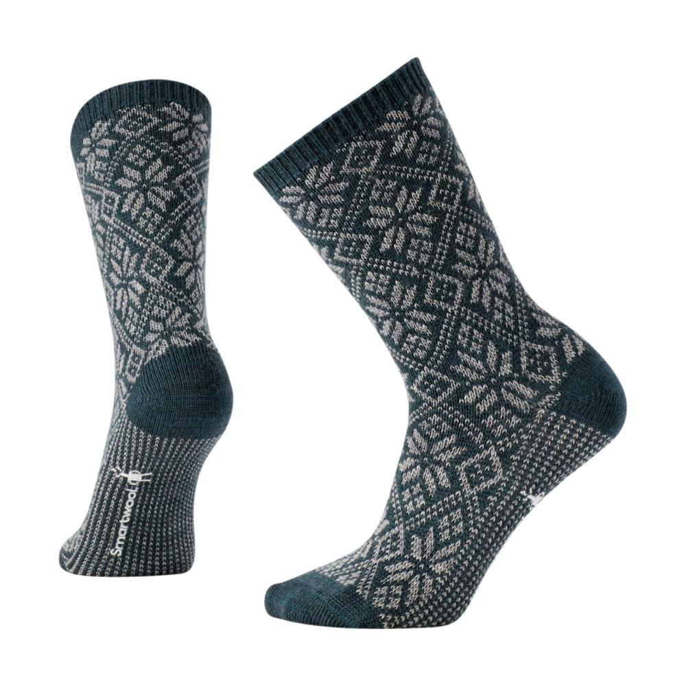 Smartwool Women's Traditional Snowflake Crew Socks LOCHNESS_961
