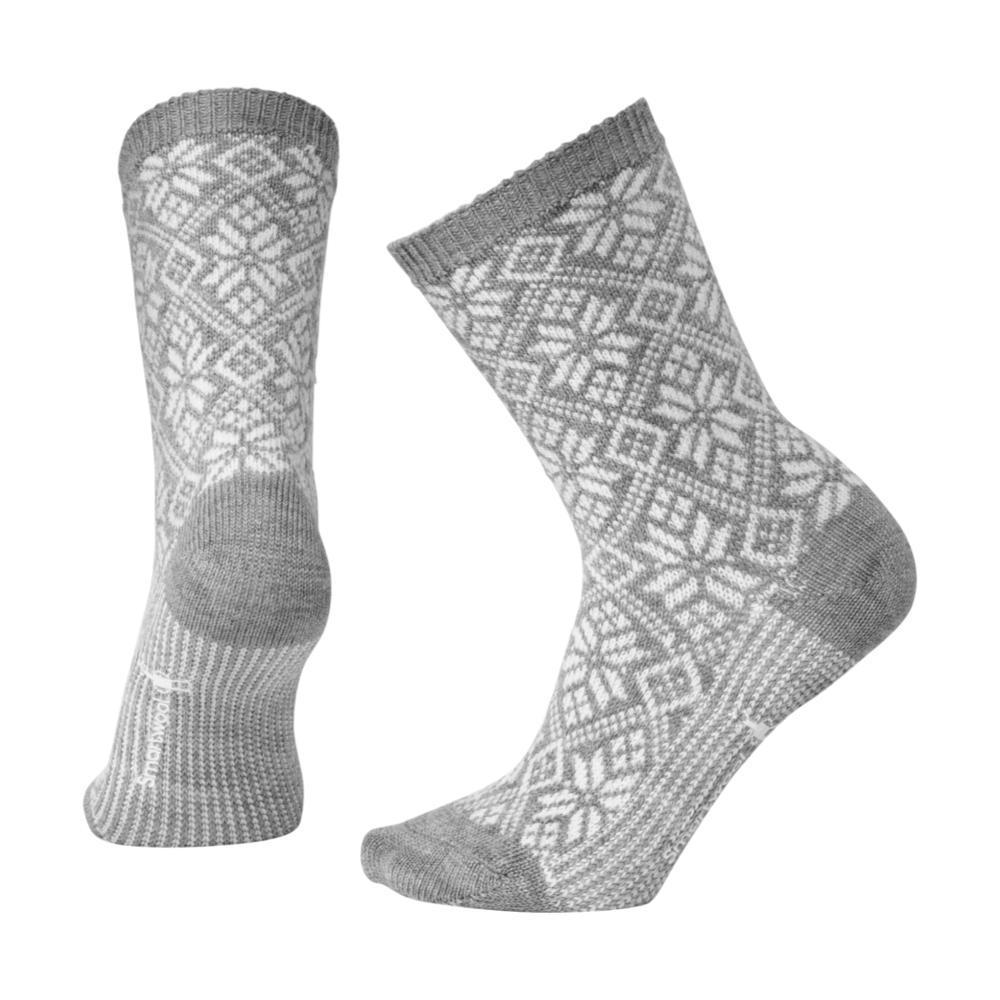 Smartwool Women's Traditional Snowflake Crew Socks LTGRAYH_833