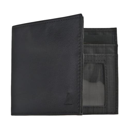 Allet Inside ID Wallet-Leather Black