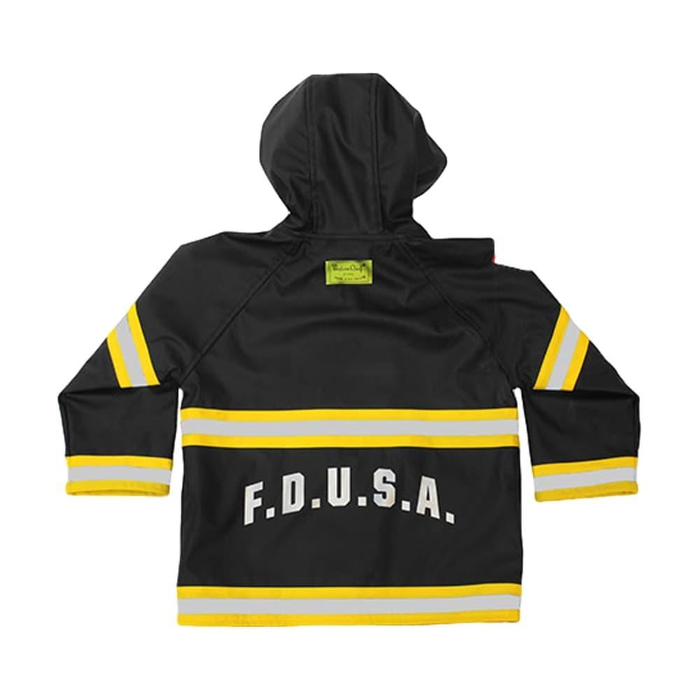 Western Chief Kids F.D.U.S.A. Firechief Rain Coat BLACK