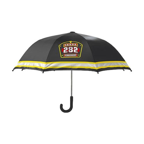 Western Chief Kids F.D.U.S.A. Firechief Umbrella BLACK