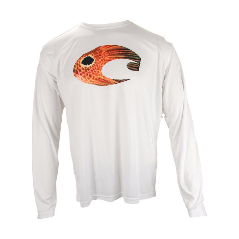 Costa Men's Techincal Redfish Long Sleeve Shirt WHITE