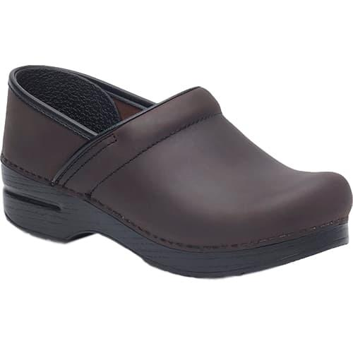 Dansko Men's Professional Antique Brown Oiled Leather Clogs