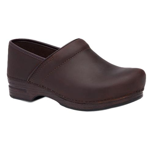 Dansko Men's Pro XP Brown Oiled Leather Clogs