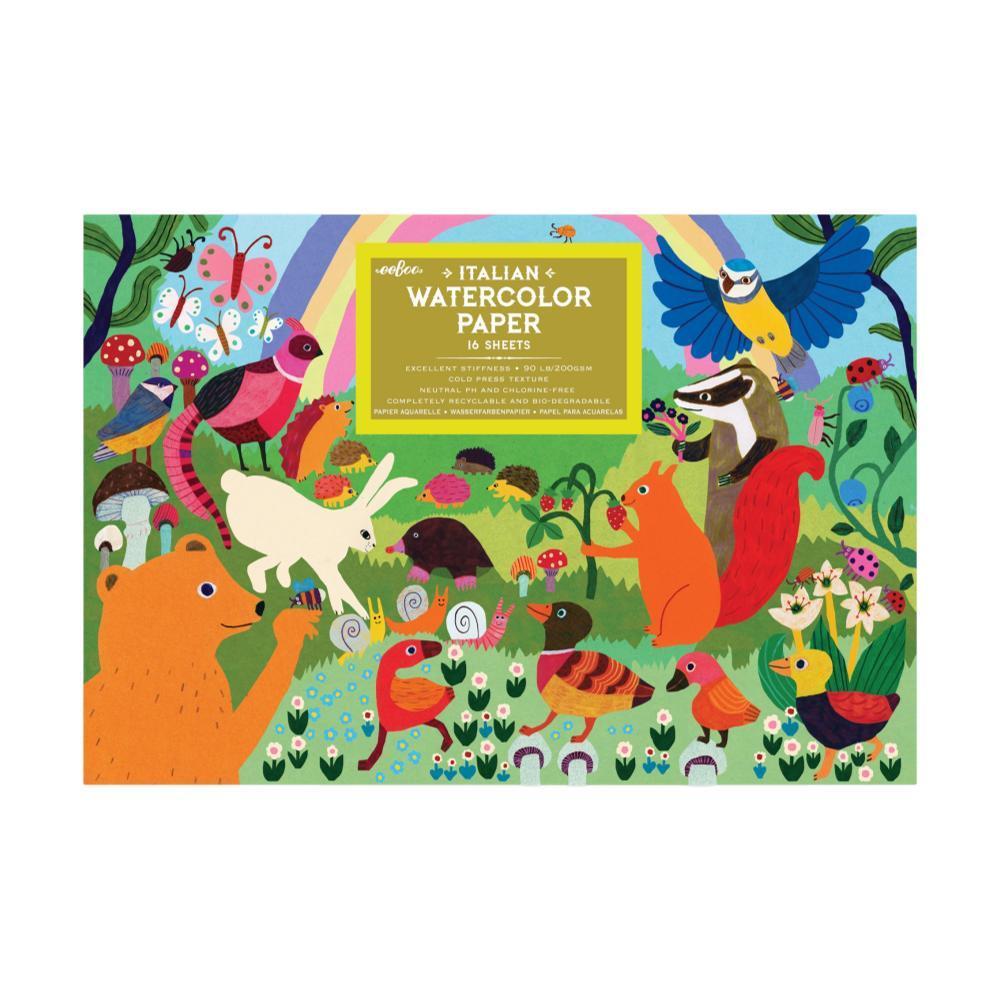Eeboo Woodland Rainbow Watercolor Pad