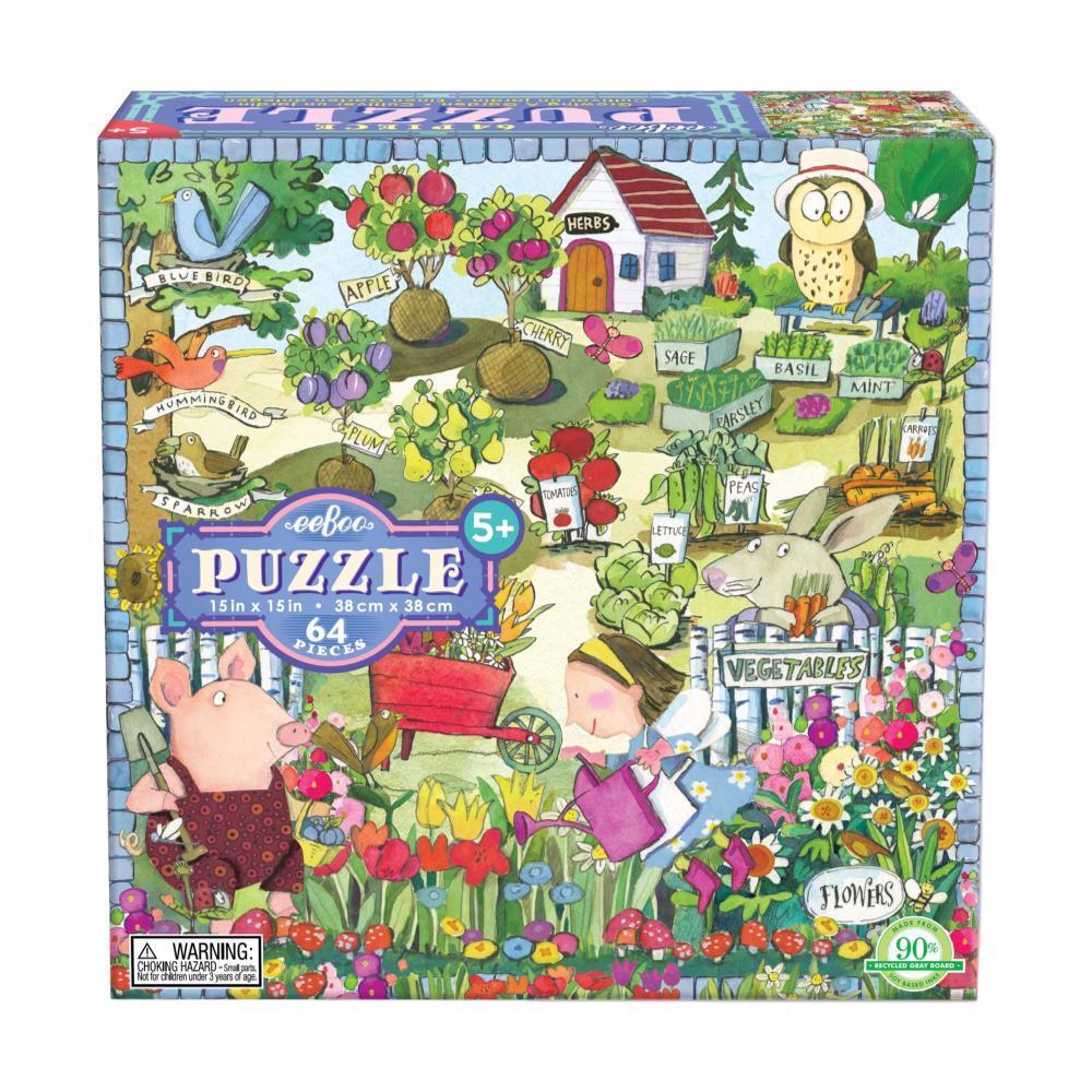 Eeboo Growing A Garden 64 Piece Puzzle