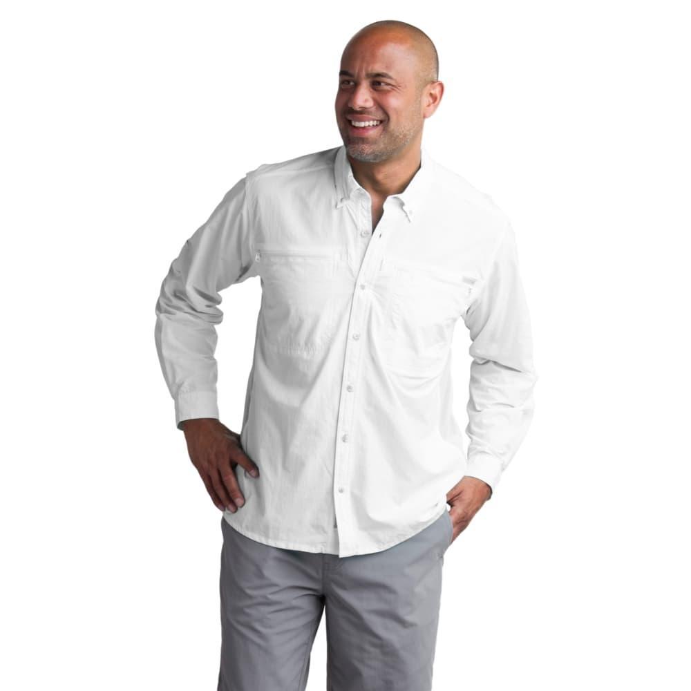 ExOfficio Men's Atoll Long Sleeve Shirt WHITE