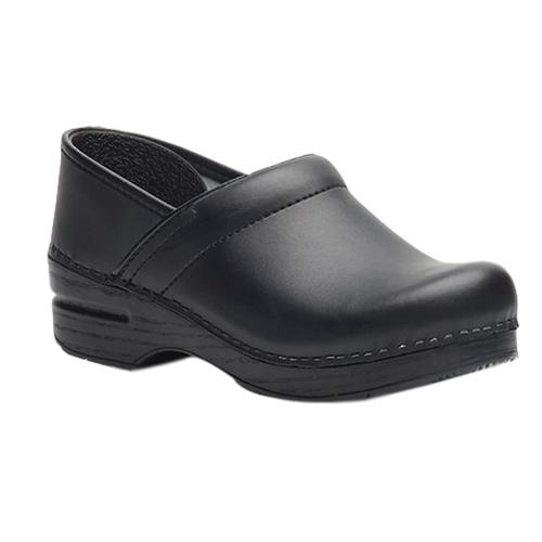 Dansko Men's Professional Black Box Leather Clogs Blkbox