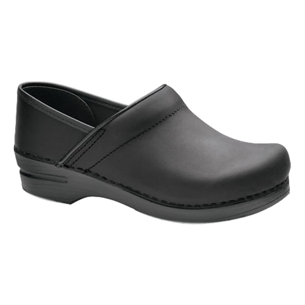Dansko Men's Professional Black Oiled Leather Clogs BLACK