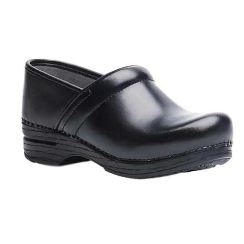 Dansko Men's Pro XP Black Cabrio Leather Clogs BLK.CAB