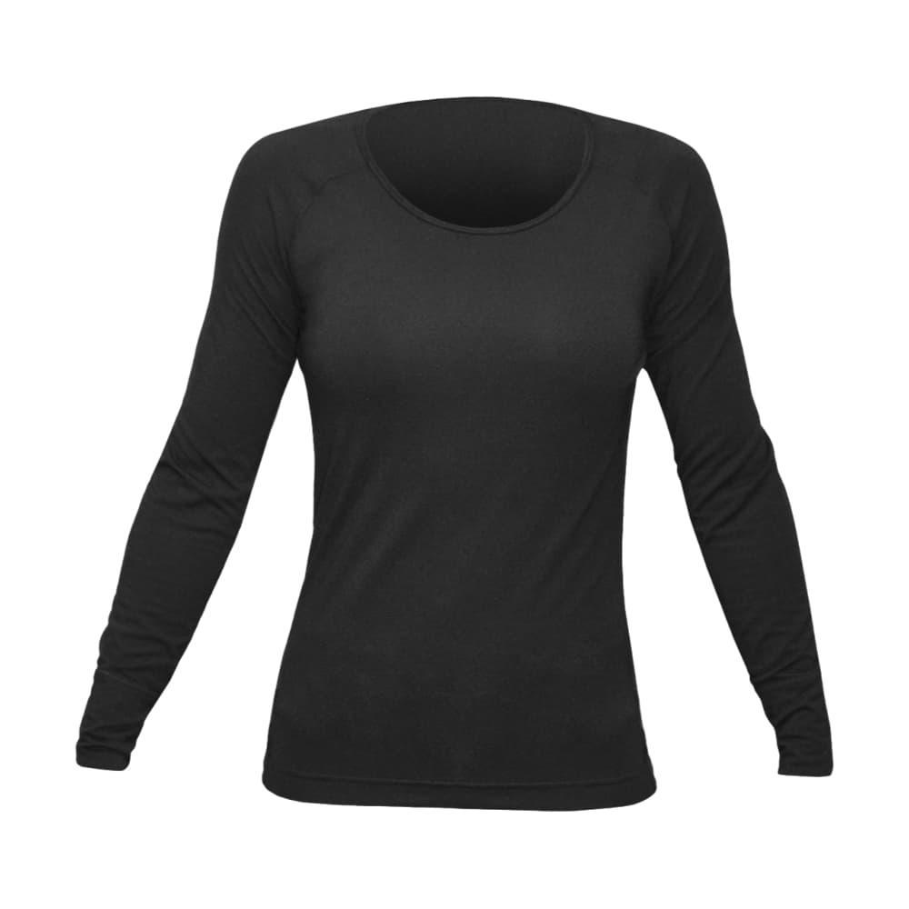 Hot Chillys Women's Solid Scoopneck Top BLACK_101