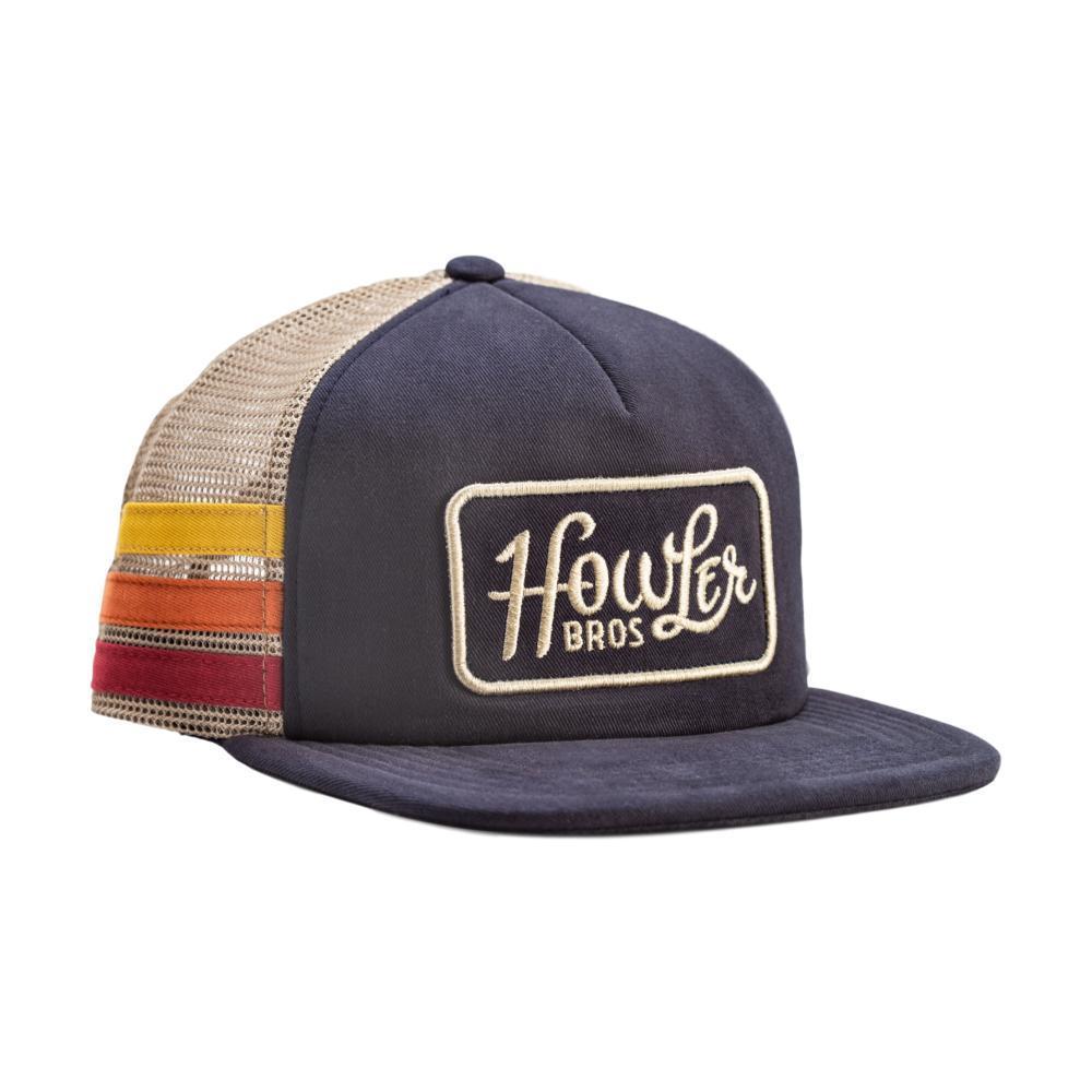 Howler Brothers Men's Classic Snapback Hat NAVYSTRIPES